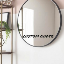 Cute Mirror Decals! Can Be Customised!