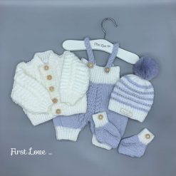 Baby Girls Hand Knitted Outfit