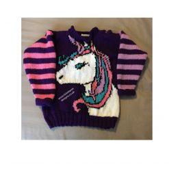"""""""Beth and Benji"""" Child's Sweater PDF Knitting Pattern"""