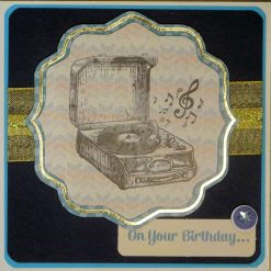 3D, Layered A5 Exclusive Designer 4th Birthday Card, With Box.