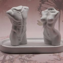 Human Torso Pair and Oval Tray