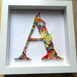 """Hand Quilled Letter """"D"""""""