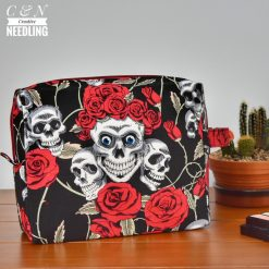 Skulls and Roses box pouch