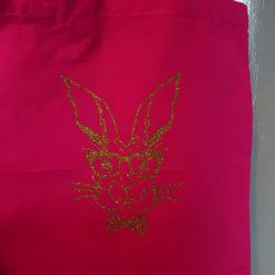 """""""Bunny with glasses (image)"""" Cotton Tote Bags ( Different colours and  designs available)"""