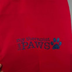 """""""My therapist has paws"""" Cotton Tote Bags ( Different colours and  designs available)"""