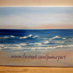 Down by the sea Acrylic on canvas
