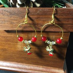 Festive Rudolph Hoop Earrings