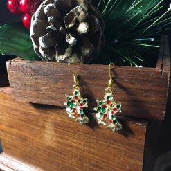 Festive Enameled Bells Earrings