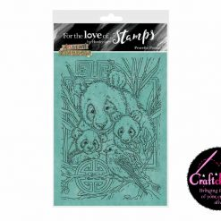 For The Love Of Stamps - Hunkydory - Animal Kingdom - Perfect Pandas - A6 Stamp