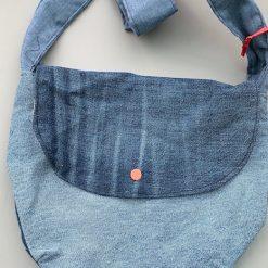 Large denim shoulder bag