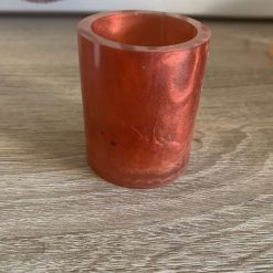 Handmade Resin Candle Holder with Free Candle