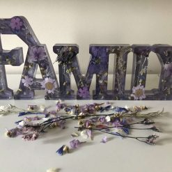 """Battery powered """"Family"""" light in Lilac and Grey"""