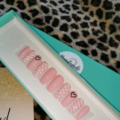 Polka Dots & Stripes Press on Nails