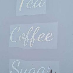 Tea coffee sugar vinyl stickers