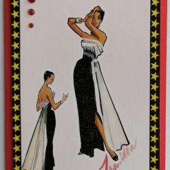 Stylish Lady 1 Greetings Card