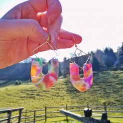 Marbled Stained glass earrings