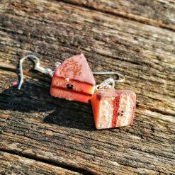 Kawaii cake slice earrings