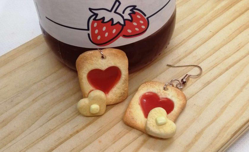 I love jam on toast earrings