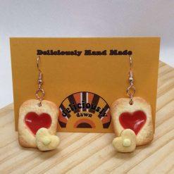 I love jam on toast earrings 1