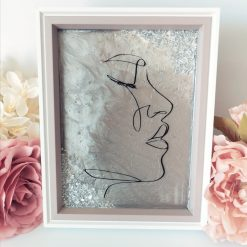 'Margo' Grey Bespoke Handmade Resin Art Piece FREE SHIPPING