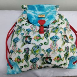 Underwater Print Daypack style Bag from Sand Bags, St Ives by Naomi