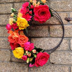 Fresh Floral Iron Hanging Wreath