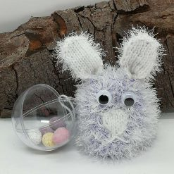 Rabbit lilac with clear two piece ball inside to put a gift in