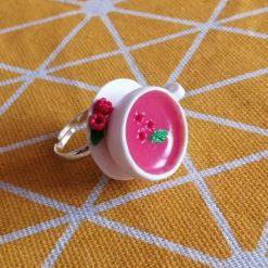 Raspberry Tea please adjustable ring