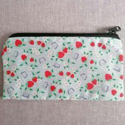 Pencil/Accessories Case in Strawberry Fabric