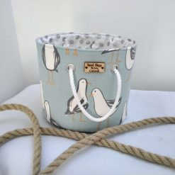 Fun and Practical Seagull Print Fabric Storage tub from Sand Bags, St Ives by Naomi
