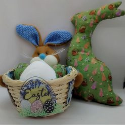 Easter Basket with Stuffed Eggs and Bunny