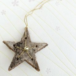 Christmas Star natural bark decoration