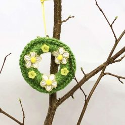 Daisy yellow Spring/Summer ring wreath decoration