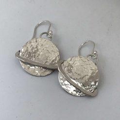 """""""Orbit Moon No 3"""" 925 silver earrings"""