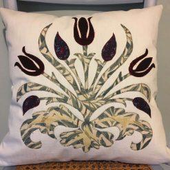 """Handmade Luxury Applique Cushions William Morris Design 15"""" x 15"""""""
