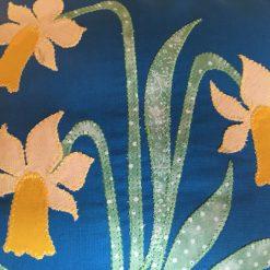 "Handmade William Morris Daffodils Applique Cushions 15' x 15"""