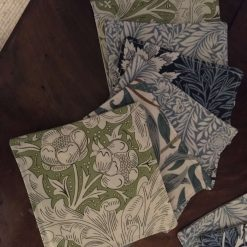 """Cocktail / Drinks Coasters in William Morris fabric 4"""" x 4"""""""