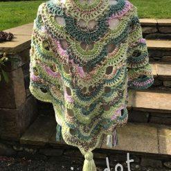 Crochet Spring Shawl/Wrap/Scarf