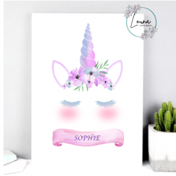 Personalised Unicorn Print  || Unicorn || A4 Print || Children || Gift
