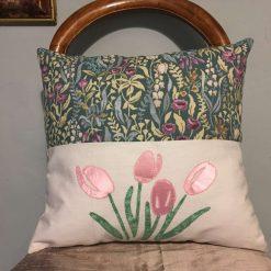 "Tulips Applique Cushions 15""x15"""