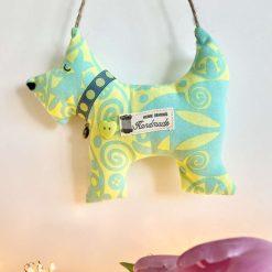 Hanging Gift Dog Decoration AnimalRoom Decor Cotton Fabric Jute Hanger Cute