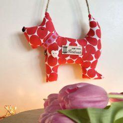 Dog Decoration Animal Hanging Gift Room Decor Cotton Fabric Jute Hanger Cute