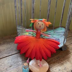 Orange fairy doll