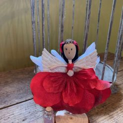 Red angel fairy doll