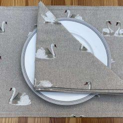 Swan Linen Placemat, placemats