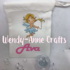 Personalised Tooth Fairy Bag with Tooth pot