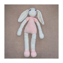 Large Pink and White Lop Eared Bunny and Small Easter Treat Bag