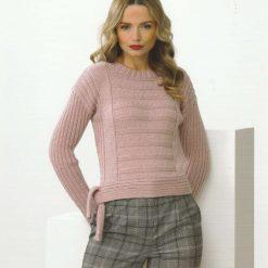 James C Brett - Knitting Pattern - Tie & Non Tie Sweater