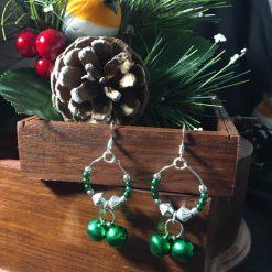 Festive Jingle Bells Hoop Earrings
