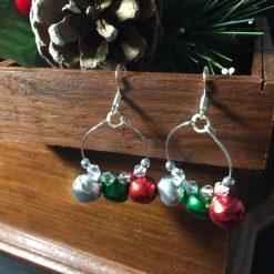 Festive Jingle Bell Hoop Earrings